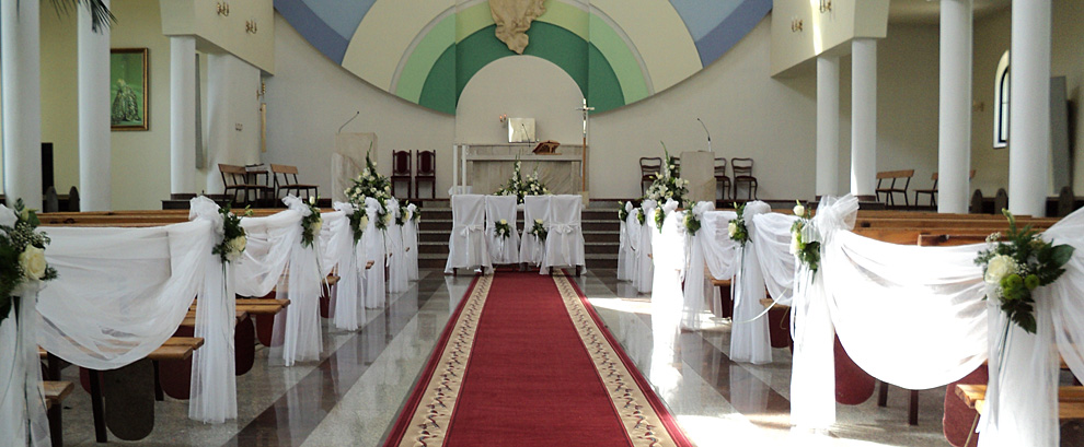 Dekoracja kościoła w Łodzi